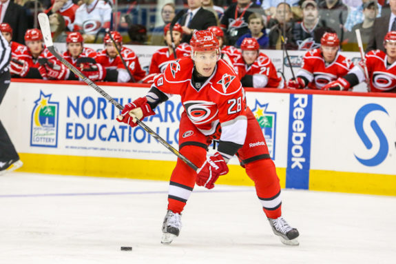 Burakovsky's game is similar to that of Carolina Hurricanes' forward Alexander Semin [Photo by Andy Martin Jr]