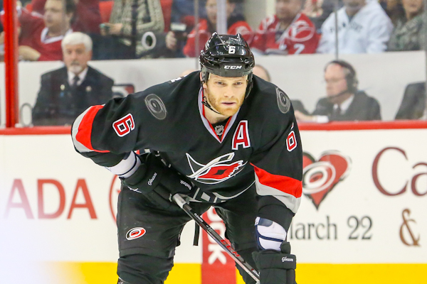 Tim Gleason has upped his game for the Carolina Hurricanes this year. (Photo: Andy Martin Jr)