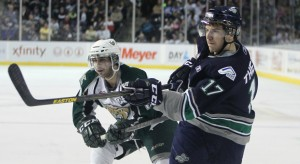 Seattle's Shea Theodore is a top ranked NHL Draft prospect (photo Seattle Thunderbirds)