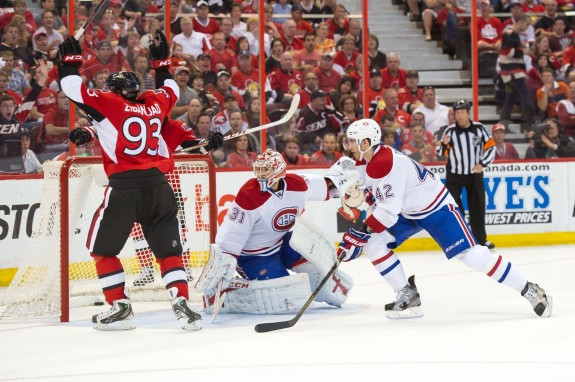 Too many goals doomed Carey Price in round one.(Marc DesRosiers-USA TODAY Sports)