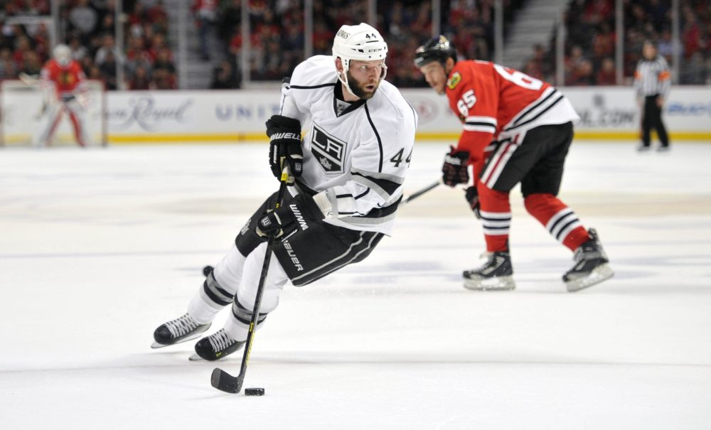 Heatherington tries to emulate his game after Robyn Regehr. (Rob Grabowski-USA TODAY Sports)