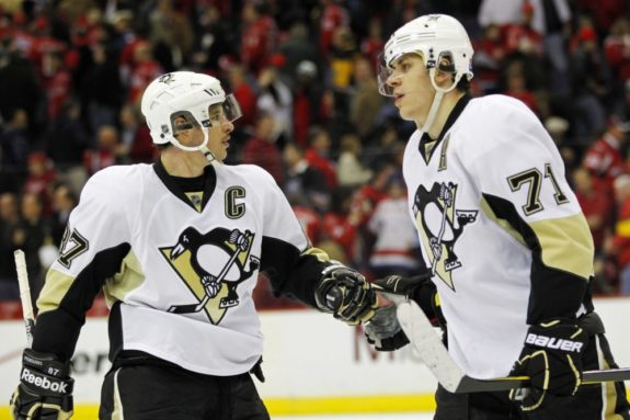 Sidney Crosby and Evgeni Malkin will have to improve their playoff performances this season.(Geoff Burke-USA TODAY Sports)