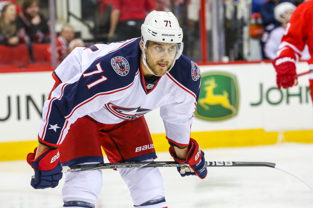 Columbus Blue Jackets left wing Nick Foligno (71)   Photo Credit:  Andy Martin Jr