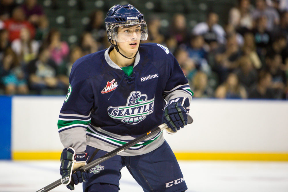 Mathew Barzal: one of the top average-sized forwards available for the 2015 NHL Draft. (Photo: Christopher Mast)