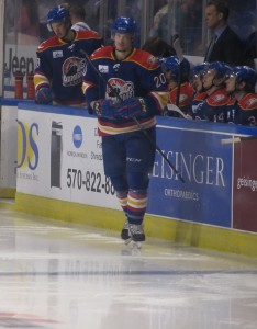 Alex Grant is leading the Norfolk Admirals with seven points in his first year with his new team. (Alison Myers/THW)