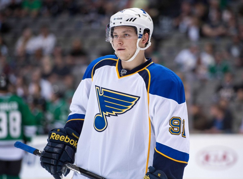 Tarasenko is the lone Blues Russian player (Jerome Miron-USA TODAY Sports)