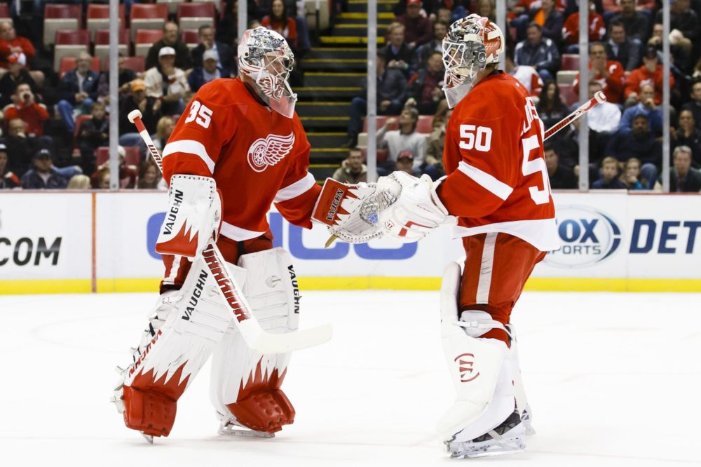 Jonas Gustavsson Jimmy Howard Detroit Red Wings