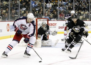 Marc-Andre Fleury has allowed 3 goals or more in all four games of the Pittsburgh Penguins 1st round series against the Columbus Blue Jackets. (Charles LeClaire-USA TODAY Sports)