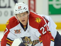 Nick Bjugstad has become a major offensive threat for the Florida Panthers. (Marc DesRosiers-USA TODAY Sports)