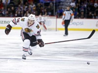 Andrew Shaw is a gritty player, but he could find himself on the scoresheet on any given night - something that fantasy managers should consider if Shaw is available in their league. (Chris Humphreys-USA TODAY Sports)