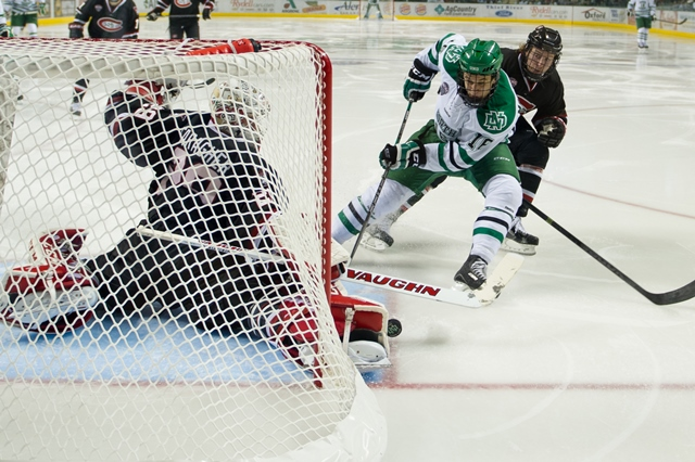 SCSU goalie Ryan Faragher  (Eric Classen/UND Athletics)