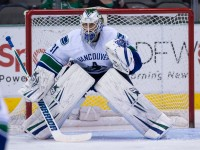 Eddie Lack stood out for the Canucks last season as the first-year NHL goalie was able to compile some impressive stats on a depleted Vancouver team. (Jerome Miron-USA TODAY Sports)