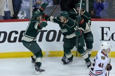 Mikael Granlund celebrates (Brace Hemmelgarn-USA TODAY Sports)