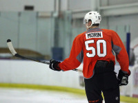 Samuel Morin during Flyers development camp. [photo: Amy Irvin]