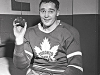 Frank Mahovlich, shown here after one of his many hat tricks at Maple Leaf Gardens