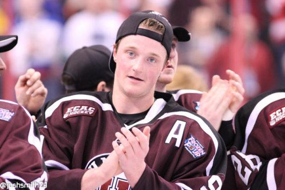 Union Hockey forward Daniel Carr at the 2014 Frozen Four