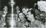 Leafs celebrate the 1964 Cup win.