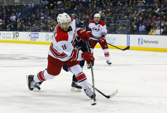 (Russell LaBounty-USA TODAY Sports) Elias Lindholm has been coming on strong for the Carolina Hurricanes, scoring all 7 of his goals and 11 of his 12 points during the month of November after only recording 1 assist in 8 games during October.