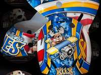 Brian Elliott Veteran's Day Mask Final Design, Painted by Jason Livery of HeadStrong Grafx