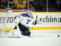 Brodeur took a leave of absence from the Blues last week. (Christopher Hanewinckel-USA TODAY Sports)