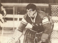 Viktor Konovalenko was steller in goal for Russia in the first period.