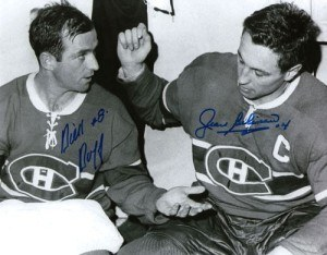 Montreal goal-scorers Dick Duff and Jean Beliveau.