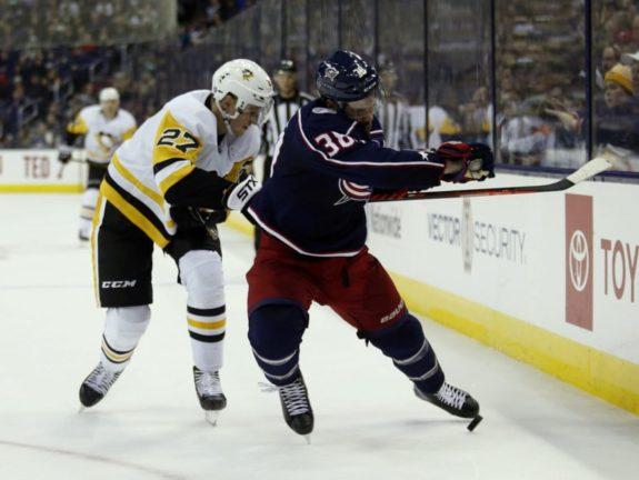 Columbus Blue Jackets Boone Jenner Pittsburgh Penguins Nick Bjugstad
