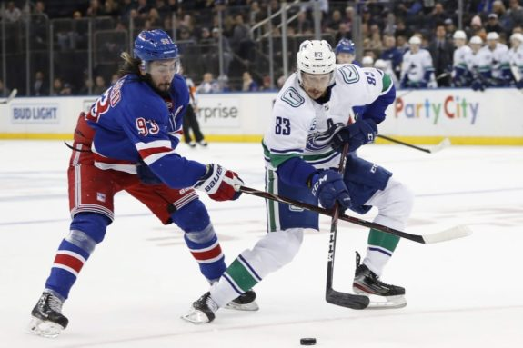 New York Rangers Mika Zibanejad Vancouver Canucks Jay Beagle