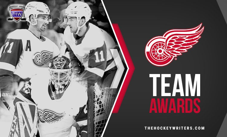 Detroit Red Wings' Team Awards Dylan Larkin, Jonathan Bernier, and Filip Zadina