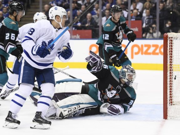Toronto Maple Leafs Andreas Johnsson Anaheim Ducks John Gibson