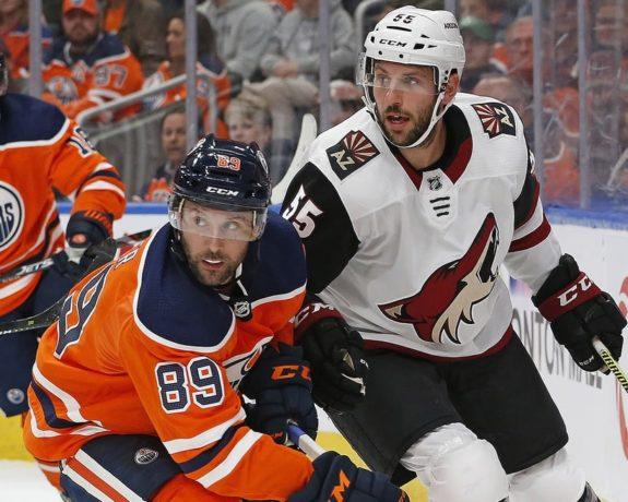 Edmonton Oilers Sam Gagner Arizona Coyotes Jason Demers