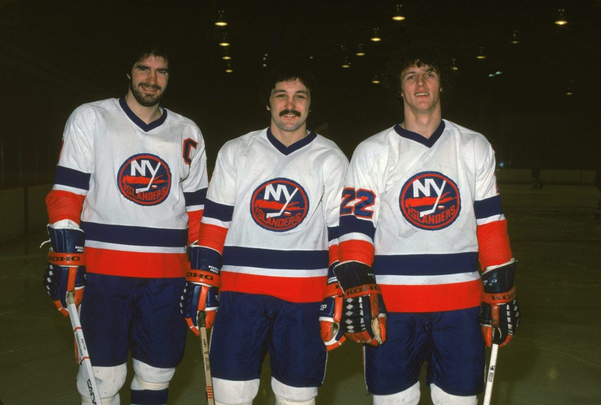 Clark Gillies Bryan Trottier Mike Bossy New York Islanders