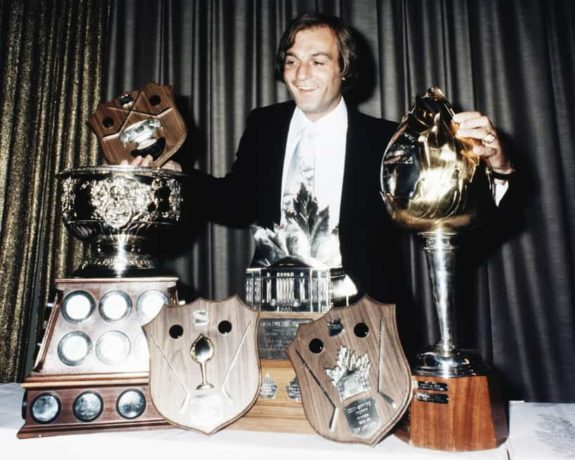 Guy Lafleur #10 of the Montreal Canadiens