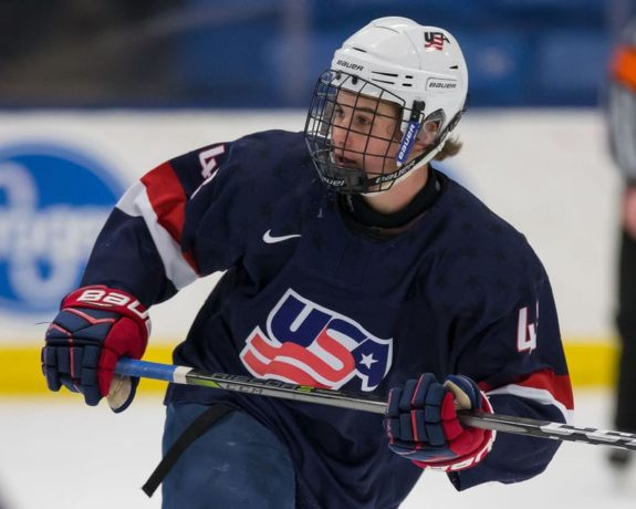 Jack Hughes Team USA U-18