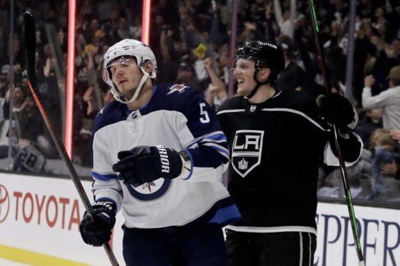 Los Angeles Kings Austin Wagner and Winnipeg Jets Dmitry Kulikov