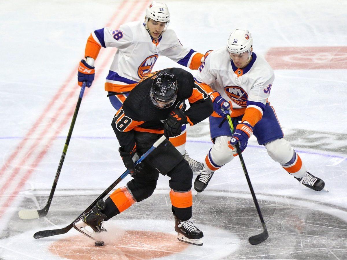 Ross Johnston Michael Del Colle Islanders Tyler Pitlick Flyers