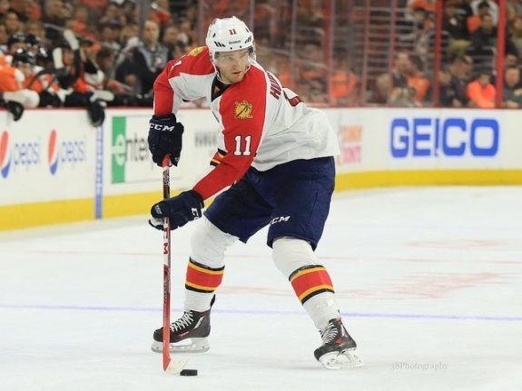 (Amy Irvin/The Hockey Writers) Sebastian singled out Jonathan Huberdeau as a disappointment and rightfully so, with only one goal and 11 points through 20 games.