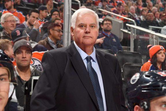 Ken Hitchcock of the Edmonton Oilers