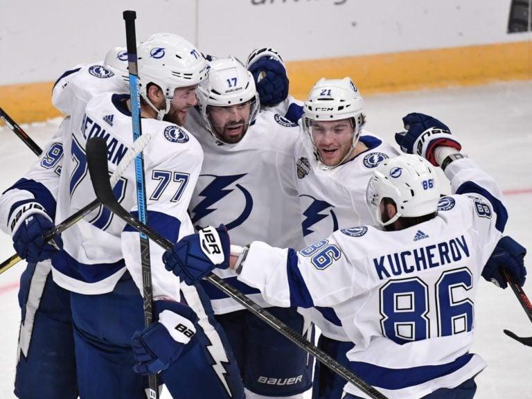 Tampa Bay Lightning celebrate