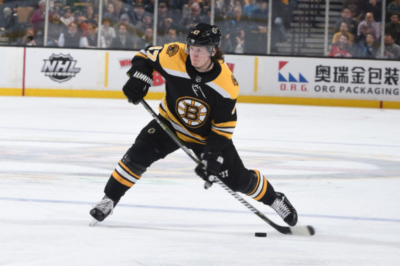 Torey Krug #47 of the Boston Bruins