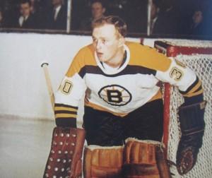 Bruins rookie goalie Gerry Cheevers.