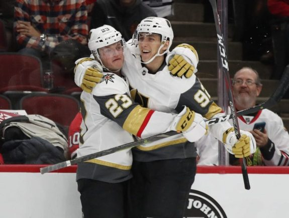 Carr and Nosek Golden Knights